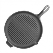 Universal PS184 Pre-Seasoned Cast Iron 25.4cm Round Griddle with Ribbed Grilling Surface