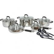 Gourmet Chef Gourmet Chef Stainless Steel 15-Piece Cookware Set