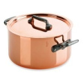 Mauviel M'heritage M150C Stew Pan with Lid and 23.9cm Cast Iron Handle
