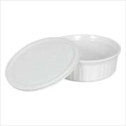 Corningware 1040282 French White 710ml Round Bakeware w/ Cover
