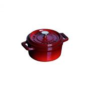 Staub 1101087 Mini Round Cocotte Pot, 10 Cm, Grenadine