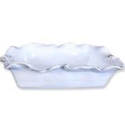 Abigails Fleur de Lis White Casserole Dish Rectangle