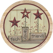 Thirstystone TSKB2 Natural Sandstone Coaster Set Faith Family Friends
