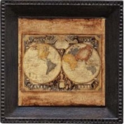 Thirstystone AUSG3 Absorbent Coaster Set Old Map- Bronze