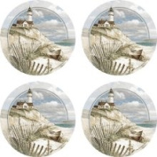 Set of Four Beach Lighthouse Occasion Coasters