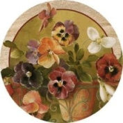 Thirstystone TSFV4 Natural Sandstone Coaster Set Pansies