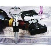 Cassiani 1418 Unique Heart Wine Stopper and Bottle Opener Favour