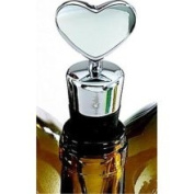 Creative Gifts International 002935 Heart Bottle Stopper with Flat Bottom, Gift Boxed