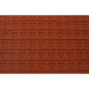 3-D Silicone Non Stick Baking Mat (Relief Mat) 38.1cm x 55.9cm Heart Design
