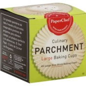 PaperChef Culinary Parchment Baking Cups, Large - 60 cups