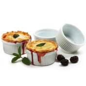 Norpro 10cm Porcelain Ramekins Set Of 4 For Custard souffle condiments and spreads