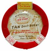 Talisman Designs Adjustable Pie Crust Shield, BPA-free Silicone, Red, Fits 22cm - 29cm Rimmed Dish