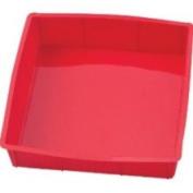 Harold Import Silicone Square Cake Pan 22.9cm X22.9cm  - Red