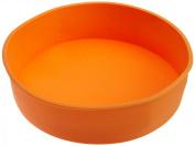 Casabella Orange Silicone Round Cake Baking Pan