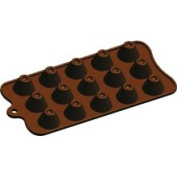 Fat Daddio's Silicone Dimpled Volcano Chocolate Mould, 15-Piece