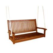 ICI BK789944 Royal Tahiti Wooden Straight Back Patio Swing