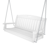 Polywood Recycled Plastic Nautical 48 Swing White