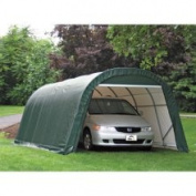 ShelterLogic 12x20x8 Round Style Shelter, Green Cover 71342