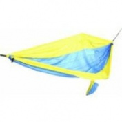 Castaway PA-7002 Parachute Camping Hammock - Blue and Yellow Stripe