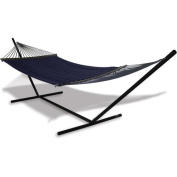 Hammaka 40751-KP Universal Stand and Quilted Olefin Hammock Combo