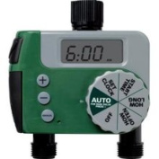 Orbit 91214 One-dial 2 Port Hose Faucet Water Timer Tri-lingual