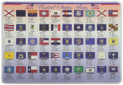 Painless Learning United States Flags Placemat