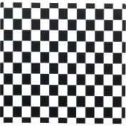 Costume National Black and White Cheque Activity Placemats Black