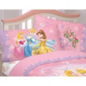 Franco Manufacturing Co Disney Loving Hearts Princess Pillowcase