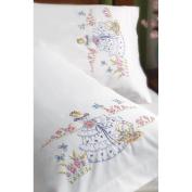 Bucilla Stamped Embroidery Pillowcase Pair 50cm x 80cm
