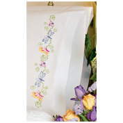 Dimensions Stamped Embroidery Pillowcase Pair 50cm x 80cm