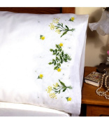 Tobin Stamped Pillowcase Pair 50.8cm x76.2cm for Embroidery Buttercups 232011