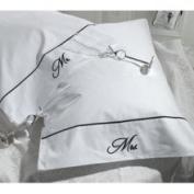Lillian Rose WG653 W Mr&Mrs Pillow Cases White