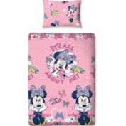 Character World 135 x 200 Cm Disney Minnie Mouse Shopaholic Single Rotary Duvet Set