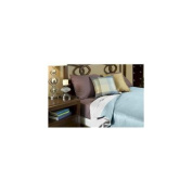 Bed Voyage 11981338 Duvet Cover - Twin - White / Sky [R]