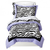 Zebra Purple Toddler Comforter Set 5 Piece by JoJo Designs