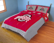 College Covers Ohio State BuckeyesReversible Comforter Set - Full