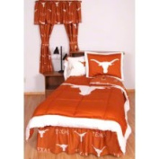 College Covers TEXBBQUW Texas Bed in A Bag Queen- with White Sheets