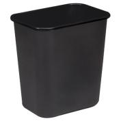 Rectangle Wastebasket, 26.5l, 36.8cm x26.7cm x38.1cm , Black. .
