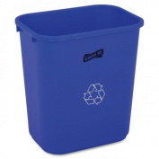 Genuine Joe GJO57257 Recycling Wastebasket- 28-.50 Quart- 14-.50in.x10-.50in.x15in.- BE