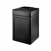 DCI Marketing 732104 38-Gallon Square Waste Container - Blue