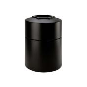 DCI Marketing 730101 45-Gallon Round Waste Container - Black
