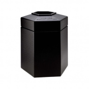 DCI Marketing 737201 45-Gallon Hex Waste Container - Black