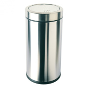 simplehuman Swing Top Bin with Brushed Stainless Steel Finish, 55 Litre