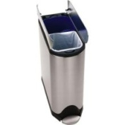 simplehuman 40 litre butterfly recycler can, brushed stainless steel
