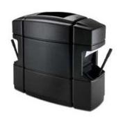 DCI Marketing 758701 Rectangular Waste - N - Wipe - Black