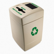DCI Marketing 745510 Recycle55 Mixed Recyclables -Trash Recycling Waste Container - Dark Pearl Gray