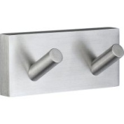 Smedbo RS356 House Collection Double Towel Hook - Brushed Chrome