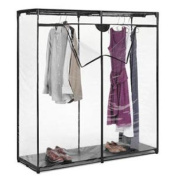 Whitmor 7013-167 Crystal 152.4cm Extra-Wide Clothes Closet