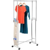 Honey Can Do GAR-01433 Steel Double Folding Square Tube Garment Rack
