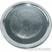 Winco CMT-14 35.6cm Round Chrome Plated Serving Tray